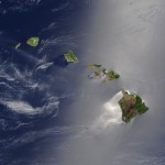 Aerial view of the Hawaiian Islands